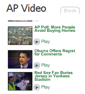 Associated Press video widget