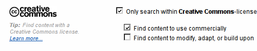 Creative Commons search boxes at Flickr