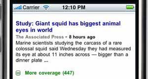 Google News on the iPhone