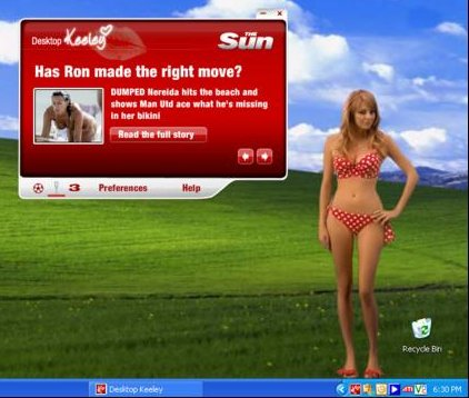 Desktop Keeley from the Sun