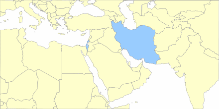 Google chart map of the Middle East