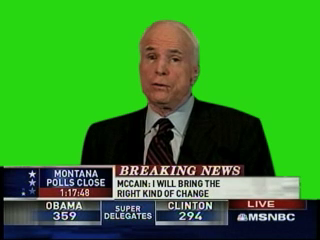 John McCain greenscreen